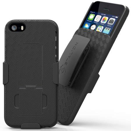 Iphone 5 5s Shell Holster Combo W Kickstand Black Bulk A4c Stalion 174 Secure Shell Belt Clip Holster W Kickstand Combo For Apple Iphone 5 5s Se