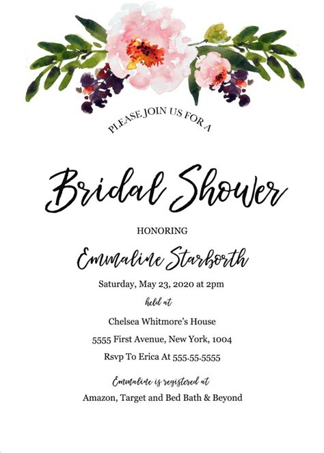 Print Free Wedding Shower Invitation Template Wedding Invitation Templates Free