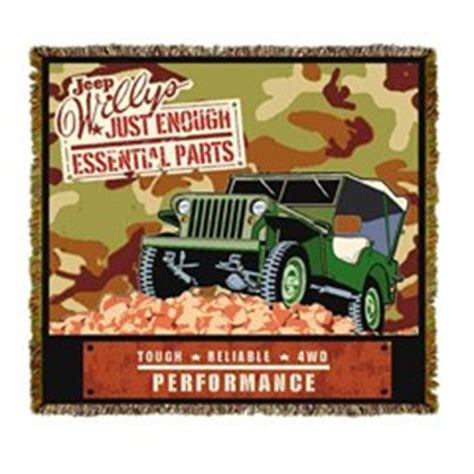 Jeep Blanket All Things Jeep Jeep Willys Army Throw Blanket Quot Just