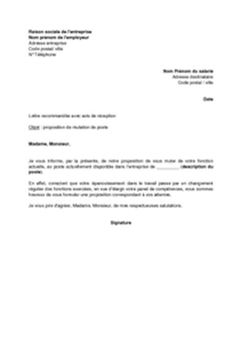 Exemple De Lettre De Demande Mutation exemple lettre de demission mutation conjoint