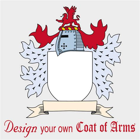 make your own coat of arms template theme unit worksheets and printables page 1