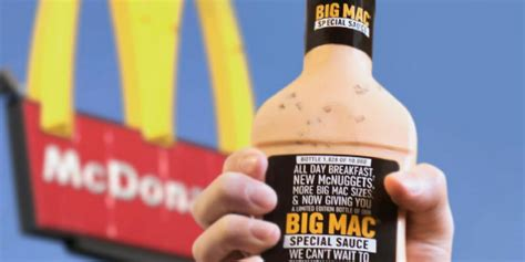 Mcdonalds Big Mac Sauce Giveaway Locations - mcdonald s unveils limited big mac special sauce giveaway on facebook twitter and