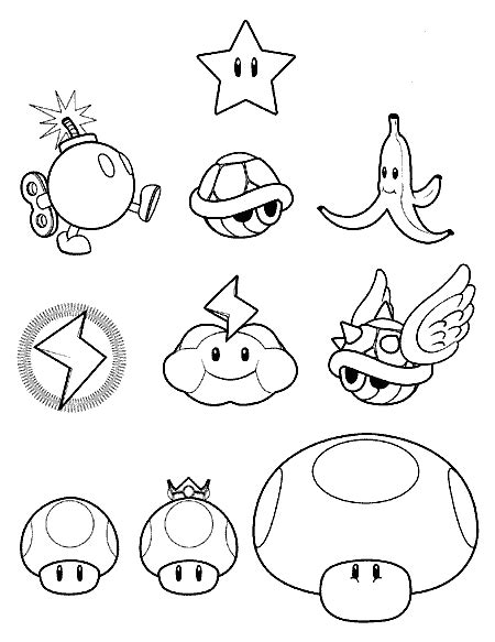 Mario 9 Coloring Pages by Coloring Pages Mario 9 Colouring Pages Mario