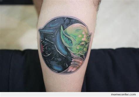 darth vader thigh tattoo geeky tattoos star wars tattoo yin yang yoda vs darth vader by ben