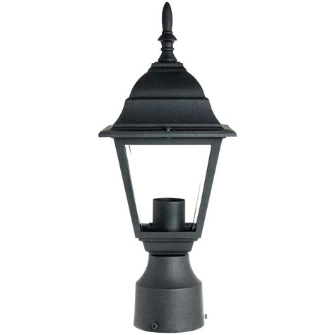 Light Posts Outdoor Sunlite Odi1150 15inch Decorative Light Post Outdoor Fixture Black Finish With Ebay