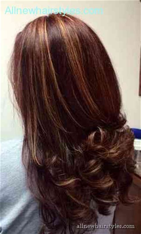 hair color with highlights and lowlights for black women black hair with highlights and lowlights