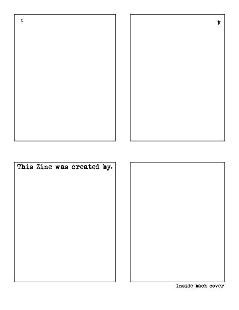 templates for zines zine template