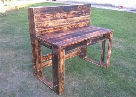 Rustic Wooden Desks by Pallet Wooden Rustic Desk Pallet Ideas Recycled