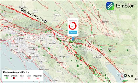 earthquake line weekend earthquakes along the san andreas fault mark tips