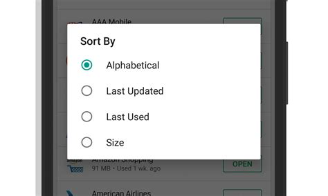 Play Store Installed Apps Play Now Lets You Sort Your Installed Apps