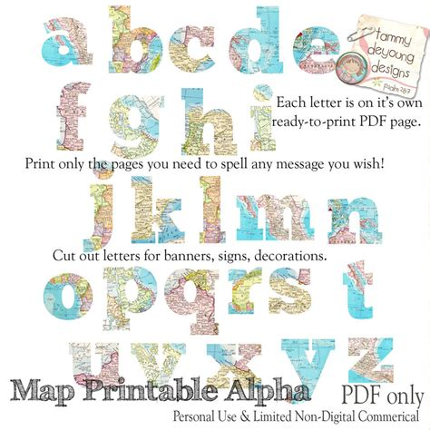 printable banner map map banner garland printable world map alphabet letters for