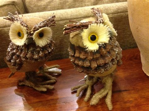 pine cone crafts for pine cone owl crafts ye craft ideas