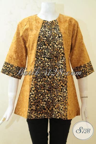 desain baju batik seragam pakaian batik seragam kerja cap smoke baju blus istimewa