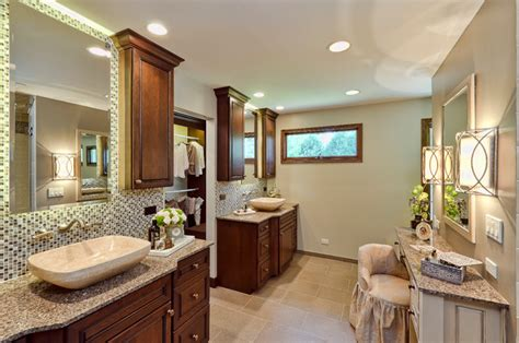 Modern Traditional Bathroom Traditional Modern Twist Traditional Bathroom Chicago By Avery Palmetto Cabinet
