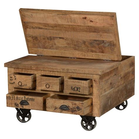 wooden trunk with drawers industrial style solid wood square storage trunk 5 drawer