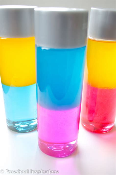 colors and bottles how to make a sensory bottle preschool inspirations