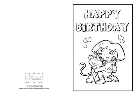 printable birthday cards free to color kids birthday printable birthday greeting cards for kids