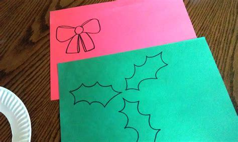 printable paper holly wreath wreath 3 embellishments woo jr kids activities