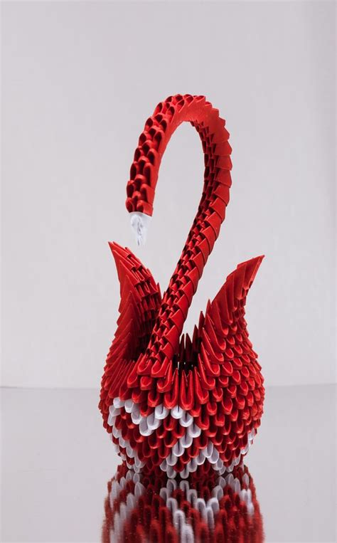 Origami Hearts 3d - 3d origami swan search origami