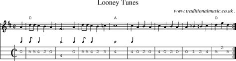 cartoon themes chords looney tunes theme song sheet music images