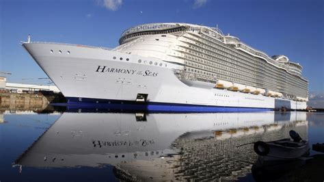 largest cruise ship being built world s largest cruise ship sets sail in france fox news