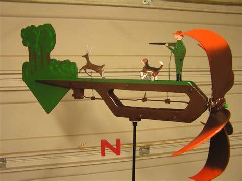 finished deer hunter  dog whirlygigs wood toys