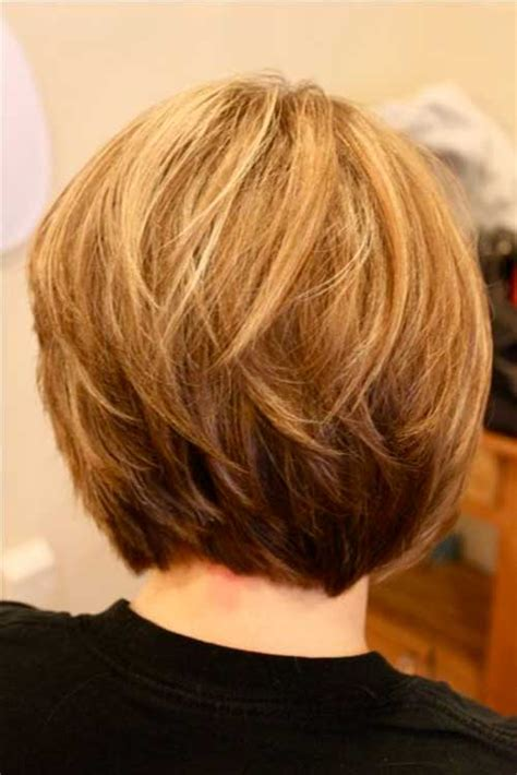 short bob back view images short stacked bob hairstyles back view