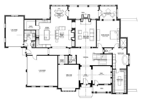large house plans open one story house plans home plan 152 1004 floor plan story house plans