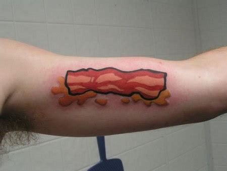 bacon tattoo bacon tattoos they called it promaja