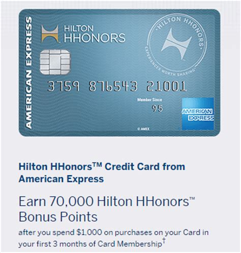 hilton hhonors card from american express earn hotel 70k offer on the no annual fee hilton hhonors american