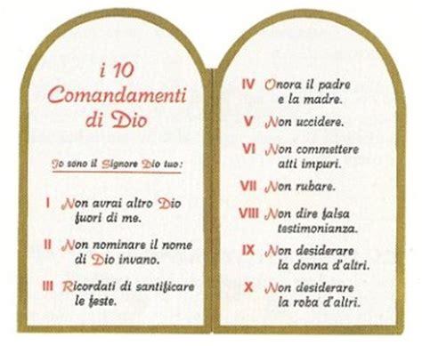 tavola dei dieci comandamenti le mie preghiere sito parrocchia