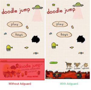 doodle jump definition adguard stopping ads cold at the door android apps review