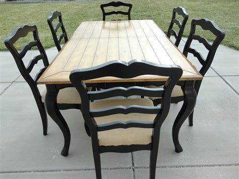 two tone dining the painted chic design sold two tone dining set