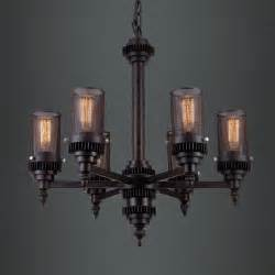 large industrial chandelier large 6 light wrought iron cylinder net industrial