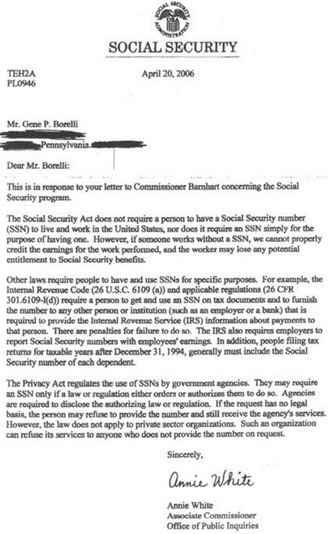 Template Letter For Social Security Numbers On Credit Reports My Audio Irs