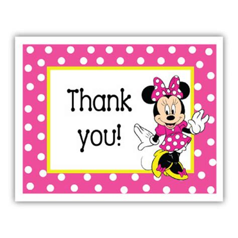 Minnie Mouse Thank You Card Template by Minnie Mouse Thank You Template Just B Cause