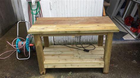 outdoor workbench  wandk  lumberjockscom