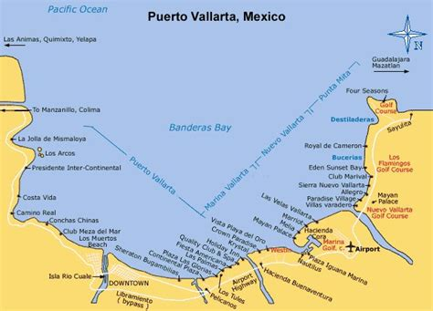 vallarta map of mexico map of vallarta with resorts search