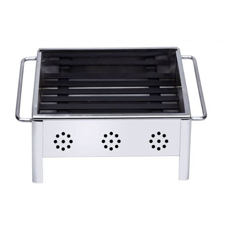 stainless steel bbq bench minibarbecue portable in stainless steel ideal for putting