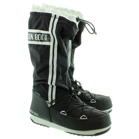 moon boots moon boot waterfall moon boots in black in black