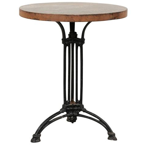 Indoor Bistro Table Iron Indoor Or Outdoor Bistro Table With Patinated Iron Top For Sale At 1stdibs