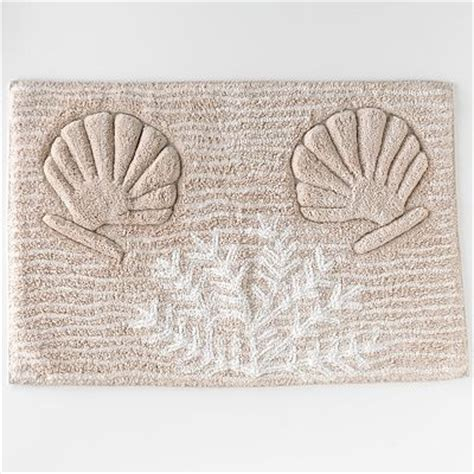 Seashell Bath Rug Captiva Sea Shell Seashell Nautical Seaside Coral Leaf Bath Rug Mat Decor Bath Rugs Mats