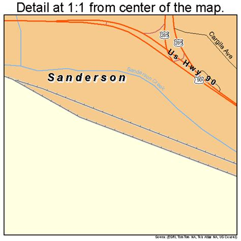 sanderson texas map sanderson texas map 4865084