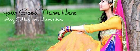 Punjabi Girls Picture Facebook Cover | beautiful punjabi girl fb cover with name