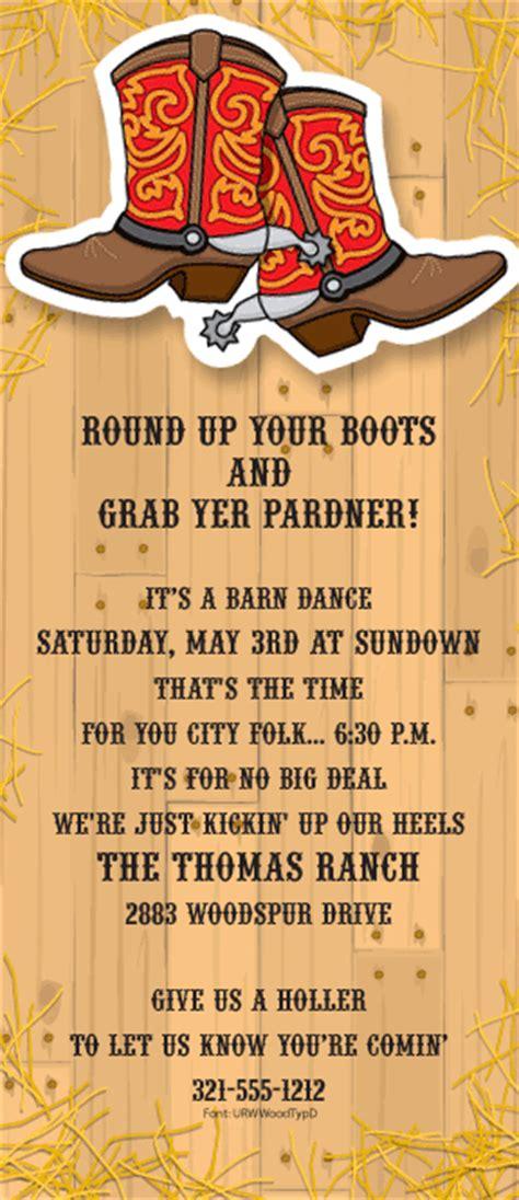western barndance wiggler invitation