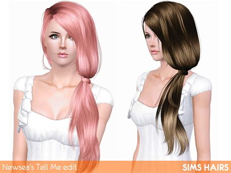 the sims 3 haircolors newsea s j152 tell me hairstyle edit by sims hairs for