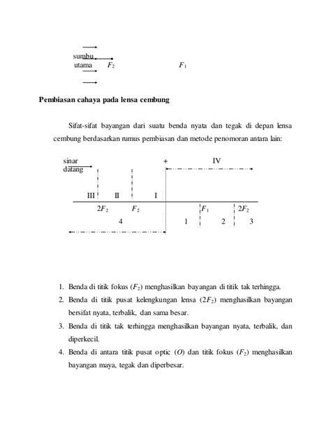 Lensa Cembung Praktikum laporan lengkap praktikum fokus lensa konvergen