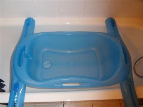 baignoire tigex et support baignoire bebe bleue tigex