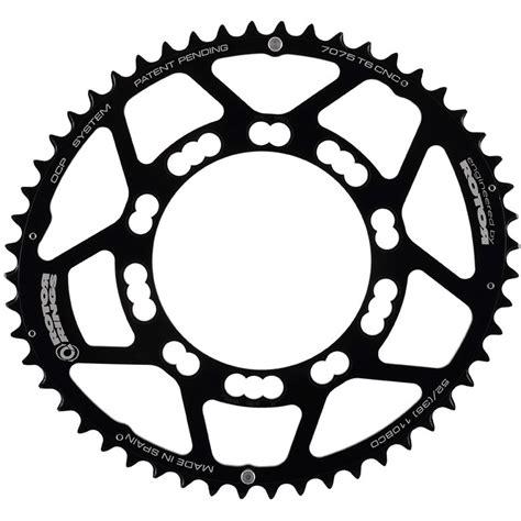 Q Ring Rotor Compact Qxl Bcd 110mm Black rotor q rings compact 5 arm 110 bcd road chainring oval black bike24