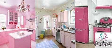 25 kitchens decorating ideas with a pink color decorationy